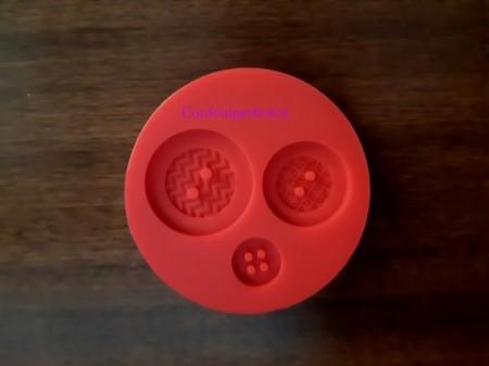 Bottoni decorati grandi. Stampo in silicone