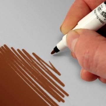 CIOCCOLATO Latte. Doppia Punta. Pennarello Alimentare con 2 punte di 0,5 mm e di 2,5 mm. Rainbow Dust Food Art Pen