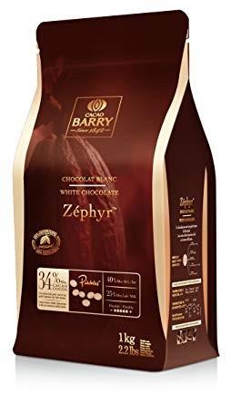 Extra Bianco 34% Zephir Cioccolato Callets White. Callebaut