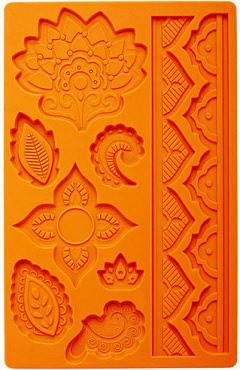 Global Floreale più 2 bordi decorativi. Stampo in silicone