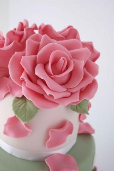 Gum Paste Rosa per Fiori Decorina