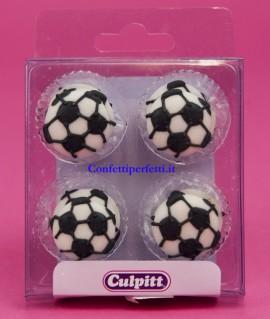 Kit di 12 Pallone da calcio in zucchero. immagini
