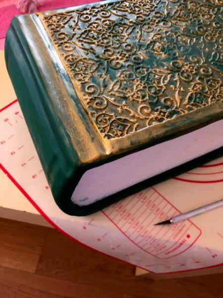 Libro copertina Decorazione. Grande Stampo in silicone di 25 cm