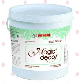 Magic Decor Mix per creare fantastici Pizzi e Merletti. Pavoni 250 gr. immagini