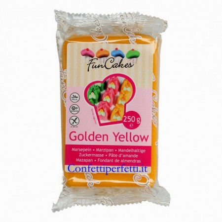Oro. Pasta di zucchero FunCakes. Gold. 250 gr.Senza glutine, Halal, Kosher