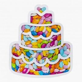 torta in polistirolo portaconfetti
