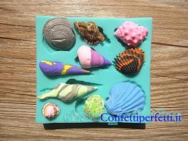 stampo silicone per conchiglie di mare