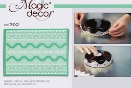 Tappetino in silicone per decoro Linea Magic Decor TMD01 Pavoni.