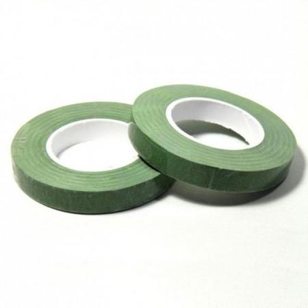 Verde.12 mm. Nastro o Guttaperga per Fiori. Dekofee Floral Tape. Middle Green immagini
