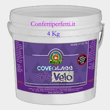 4 Kg. Bianca Cove Glass Extra Velo. Alta percentuale di Burro di Cacao