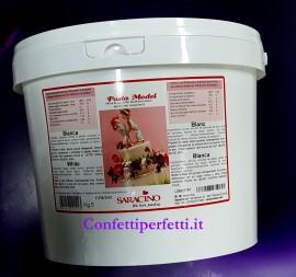 5 Kg. Bianca. Pasta di zucchero Model Saracino. Gluten Free
