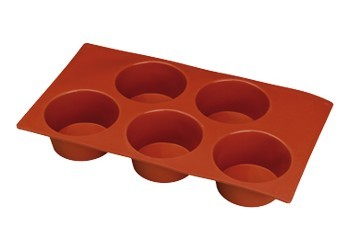 5 Muffin Stampo Antiaderente in silicone