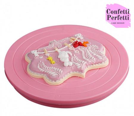 Mini Piatto girevole diametro 14 cm per decorazioni torta