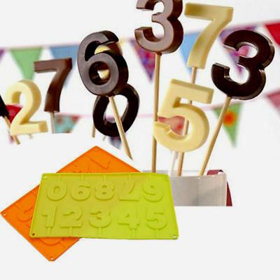 Numeri. Stampo in Silicone per Cake Pops e Lollipop