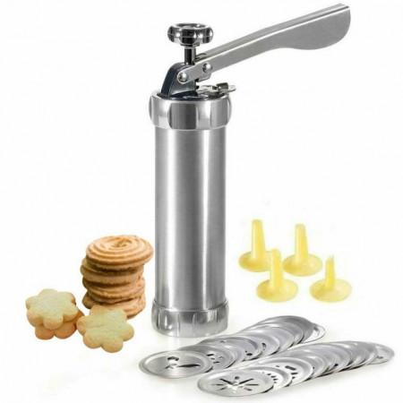 Siringa crea biscotti in alluminio con 20 Trafile