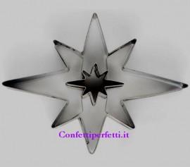 Stella Natale di Betlemme in metallo. Doppio Stampo Tagliapasta