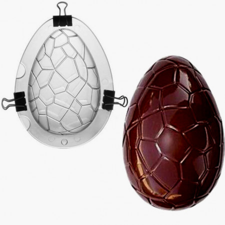 stampo per realizzare uovo di ciocolata