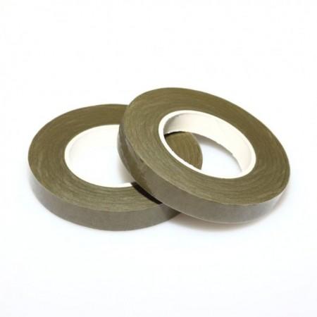 Verde Muschio.12 mm. Nastro o Guttaperga per Fiori. Dekofee Floral Tape. Moss Green immagini