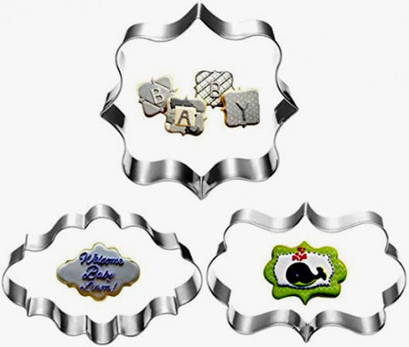 Cornici in varie forme. Stampo tagliapasta in metallo