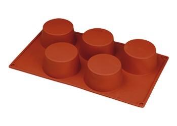 5 Muffin. Stampo Antiaderente in silicone Platinico di alta qualità