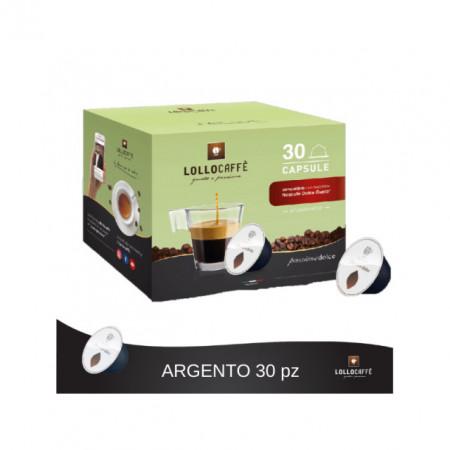Argento. Lollo Caffè Espresso. 30 Capsule Dolce Gusto