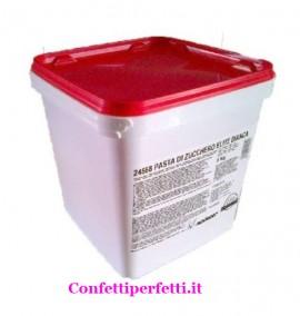 Elite Pasta di zucchero Bianca Modecor. Confezione da 5 Kg.Senza Glutine. immagini