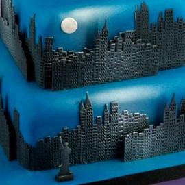 New York Città con Grattacieli e con la Statua della Libertà. Skyline. Stampo Tagliapasta Patchwork Cutter immagini