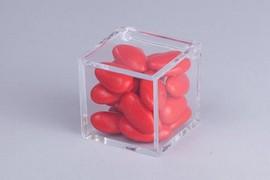 Scatolina quadrata in Plexiglass trasparente 5 x 5 x 5 cm. immagini