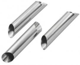 Set di 3 stampi per Cannoli in metallo.