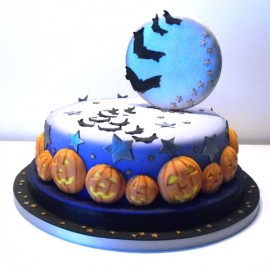 "Torta decorata in pasta di zucchero ""Halloween"""