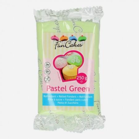 Verde Pastello.Pasta di zucchero FunCakes. 250 gr. Senza Glutine e Kosher