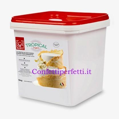 5 Kg. Tropical Sugar Nuova Pasta Super Bianco. Senza Glutine. immagini