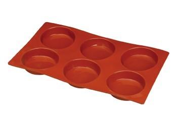 6 Tortine. Stampo Antiaderente in silicone Platinico di alta qualità.