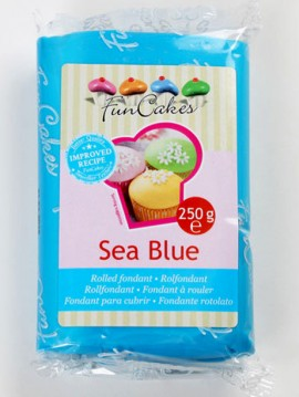 Celeste Mare. Pasta di zucchero FunCakes Sea Blue. 250 gr. immagini