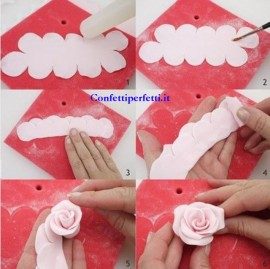 Cutter stampo per realizzare fantastica Rosa molto facilmente!! FMM Cutter The Easiest Rose Ever immagini