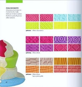Effetti Trapunta e Geometrici. Kit di 4 Fogli Decorativi. Decora.
