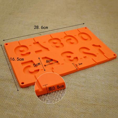 Stampo numeri in Silicone per Cake Pops