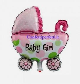 Palloncino gigante in Mylar a forma di Carrozzina per bambina!!