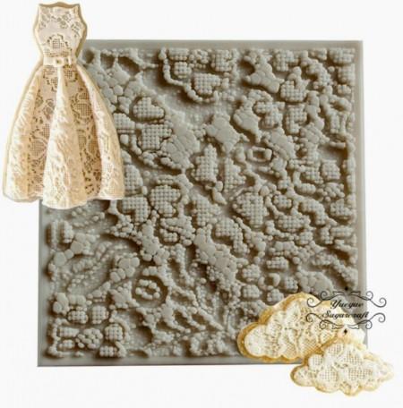 stampo silicone pizzi e merletti vestito sposa