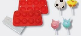 Set 2 Stampi in silicone per Cakes Pops.