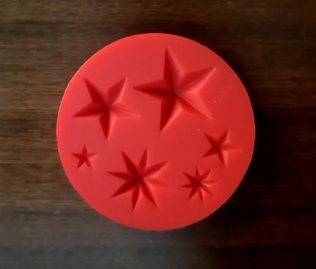 Stelle e Stelline decorate. Stampo in silicone