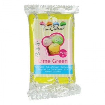 Verde Lime Fluo. Pasta di zucchero FunCakes. 250 gr. Senza Glutine e Kosher