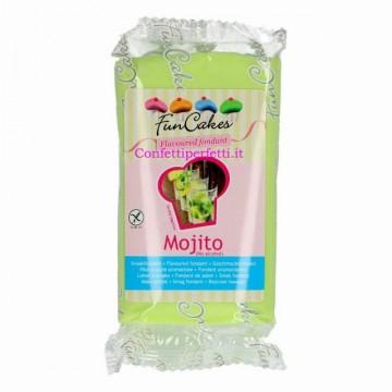 Aromatizzata al Mojito. Senza Alcool. Verde. Pasta di zucchero senza Glutine. FunCakes