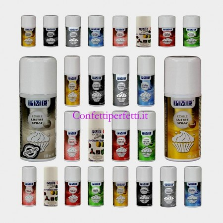 Bianco Spray Brillante e Perlescente Alimentare