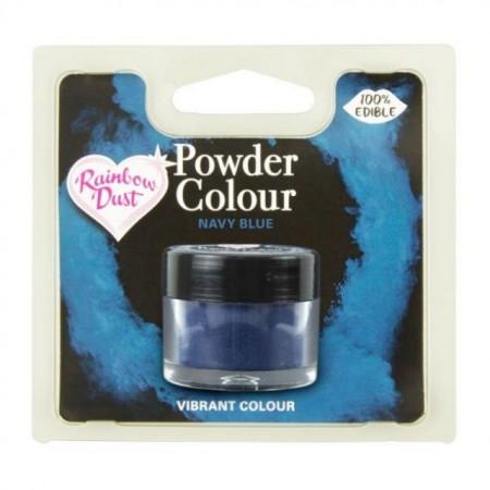 Blu Navy. Colorante in polvere concentrato. Rainbow Dust per il cake design