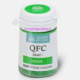 Colorante Lipo VERDE in polvere QFC Quality Food Colour Dust Green 4 gr. Senza glutine. Squires Kitchen immagini