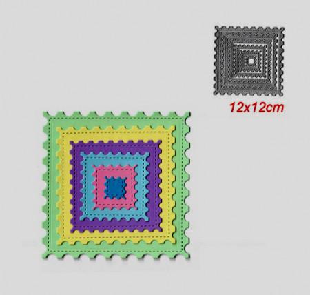 Cornice Decorata Quadrata Fustelle sottili metalliche per Scrapbooking