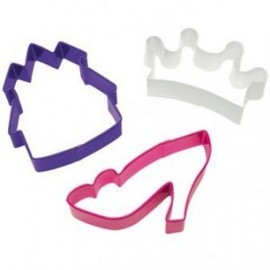 Corona Reale Scarpa e Castello. Set di 3 Tagliapasta in metallo.