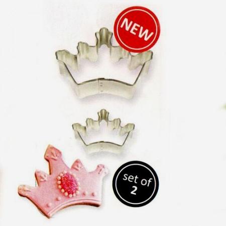 Corona. Set di 2 Stampi Tagliapasta in metallo. PME