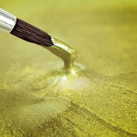 Giallo Metallizzato. Colorante in gel. Rainbow Dust